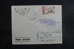 A.O.F. - Enveloppe De Dakar Pour Casablanca En 1950, Cachet Commémoratif Aérien - A Voir - L 39720 - Lettres & Documents