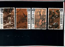 6766B) FORMOSA- 1966-QUADRI DELLA CINA ANTICA-SERIE COMPLETA-N. 541/44-USATA - 1945-... Repubblica Di Cina