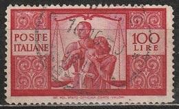 1945 Serie Democratica 100 Lire - Usato - 6. 1946-.. Republic