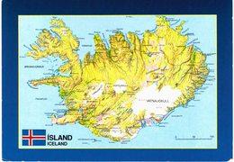 Islande Iceland - Représentation Géographique - Islande