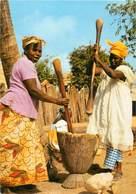 Afrique - Africa - Femmes - Femme - Gambie - Gambia - Village Women Preparing The Evening Meal - état - Gambie