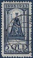 Pays-Bas 1923 N°128 5 Gulden Bleu Oblitéré TTB Signé Jamet - Oblitérés