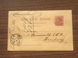 GÄ34793 Spanien Ganzsache Stationery Entier Postal P 10 Von Valencia Nach Hamburg - Ganzsachen