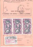 Ordre De Réexpédition Temporaire Affranchissement Base Poste Aérienne Oblitéré PARIS 01 DISTRIBUTION - Marcophilie (Lettres)