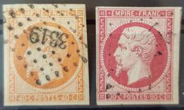 FRANCE - Canceled - YT 16, 17a - 40c 80c - 1853-1860 Napoléon III.