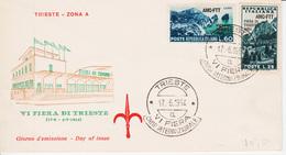 Trieste A, Sassone 201-202 FDC Fiera Di Trieste, Non Viaggiata, (05240) - 7. Trieste