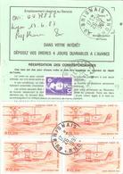 Ordre De Réexpédition Définitif Affranchissement Base Poste Aérienne Oblitéré BRIGNAIS Rhone - Marcophilie (Lettres)