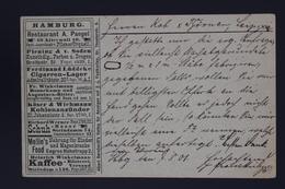 Deutsche Reich POSTKARTE HAMBURG PRIVAT GANZSACHE  1901 UPRATED - Ganzsachen