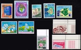 Algerien 1974/5, Michel# 630 - 640, 641 - 654, 656A - 660, Block 1A, Block 1b  ** - Algerien (1962-...)