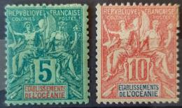 OCÈANIE - MLH - YT 4, 15 - 5c 10c - Océanie (Établissement De L') (1892-1958)
