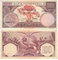 Indonesia - 100 Rupiah 1959 VF Lemberg-Zp - Indonesien