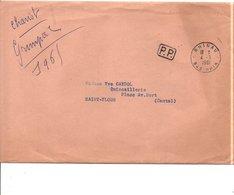 LETTRE EN PORT PAYE DE RHINAU BAS RHIN 1961 - Marcophilie (Lettres)