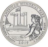 "USA 25 Cents (a Quarter) 2019 S ""47th Park - Memorial Park"" UNC - Federal Issues"