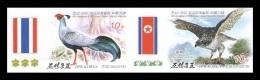 North Korea 2015 Mih. 6203B/04B Fauna. Birds (imperf) (joint Issue North Korea-Thailand) MNH ** - Korea (Nord-)