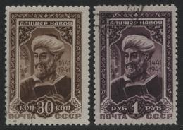 Russia / Sowjetunion 1942 - Mi-Nr. 827 C & 828 A Gest / Used - Navoi (II) - 1923-1991 UdSSR