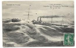 LA REUNION A MARSEILLE 1° L.U.N°3 1912 / N°137 Sur Carte Pour L'Italie... - Postmark Collection (Covers)