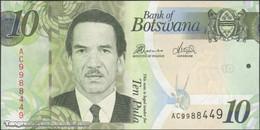 TWN - BOTSWANA 30d - 10 Pula 2014 Prefix AC UNC - Botswana