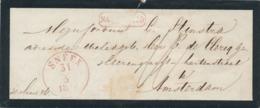 Nederland - 1856 - EO-rouw Omslag - Na Posttijd - Van SNEEK Naar Amsterdam - Niederlande