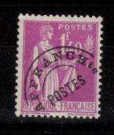 Preoblitere Paix YV 77 N* Cote 10 Euros - 1893-1947