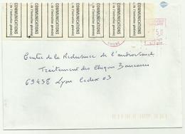 Lettre Avec étiquette Postes Et Télégraphes - Marcophilie (Lettres)