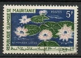 Mauritanie - Mauretanien - Mauritania 1964 Y&T N°184 - Michel N°242 (o) - 5f Nymphaéa Lotus - Mauritania (1960-...)