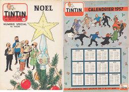 Tintin 1956 Avec Calendrier 1957 - Tintin