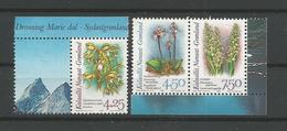 Greenland 1996 Orchids From  Booklet 2 Y.T. 263a/265a ** - Neufs