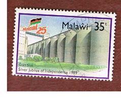 MALAWI - SG 818 - 1989 INDEPENDENCE ANNIVERSARY: GRAIN SILOS  -  USED° - Malawi (1964-...)