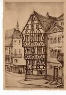 Aschaffenburg - Altes Fachwerkhaus - Zerstörte Denkmäler Bayrischer Kultur - Rotes Kreuz 3 - Aschaffenburg
