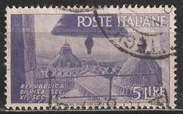 1946 Avvento Della Repubblica In Italia - 5 Lire - Usato - 6. 1946-.. Republic