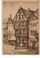 Aschaffenburg - Altes Fachwerkhaus - Zerstörte Denkmäler Bayrischer Kultur - Rotes Kreuz 4 - Aschaffenburg