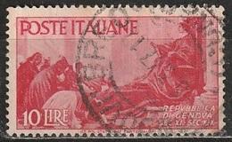 1946 Avvento Della Repubblica In Italia - 10 Lire - Usato - 6. 1946-.. Republic