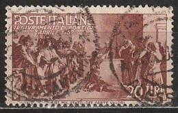 1946 Avvento Della Repubblica In Italia - 20 Lire - Usato - 6. 1946-.. Republic
