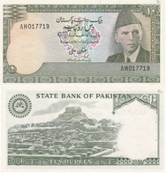 Pakistan - 10 Rupees 1983 - 1984 AUNC P. 29 W/holes Lemberg-Zp - Pakistan