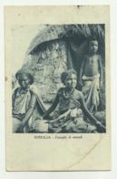 SOMALIA - FAMIGLIA DI NOMADI 1934 - VIAGGIATA FP - Somalia