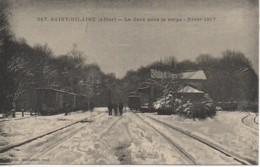 03 St-HILLAIRE  La Gare Sous La Neige (hiver 1917) - Autres Communes