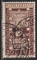 1949 50º Anniversario Della Biennale D'arte Di Venezia - 20 Lire - Usato - 6. 1946-.. Republic