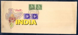 VISIT INDIA-TAJMAHAL-CACHET-ILLUSTRATIONS ON REVERSE SIDE TOO-SPECIAL COVER-INDIA-1965-SCARCE- BX1-389 - Ferien & Tourismus