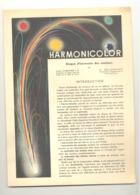 HARMONICOLOR - Plaquette Avec Disque Pour Aider à Harmoniser Les Couleurs, Peinture, Peintre,art,... .(b259) - Autres Collections