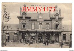 CPA - BERCK-PLAGE - La Gare, Place Bien Animée En 1919 - 62 Pas De Calais - Edit. LS à Berck-Plage - Berck