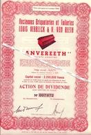 "BOOM - Lot De 10 Actions  ""ANVEREETH"" -  Ancienne Briqueteries Et Tuileries Louis Verbeeck & V. Van Reeth - Boom"