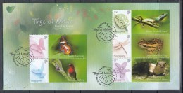 Singapore 2013 Tinge Of Nature, Otter, Butterfly, Bird, Dragonfly, Orchid Etc Mystamp FDC - Stamps