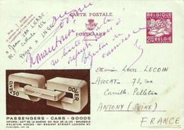 PUBLIBEL INT. 02 - Ostend-Dover - Postwaardestukken
