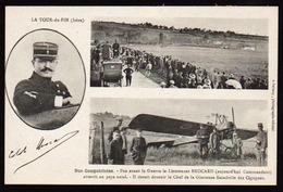 LA TOUR DU PIN: Carte Historique Sur L'évolution Du Commandant Brocard Devenu Chef De L'escadrille Des Cigognes Avec.... - La Tour-du-Pin
