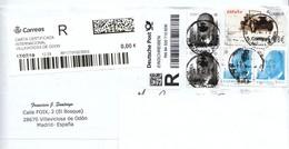 Spanien 2019, 1 R-Brief Aus Spanien, Gelaufen / Spain 2019, 1 Registered Cover From Spain, Postally Used - 1931-Heute: 2. Rep. - ... Juan Carlos I