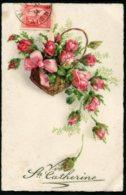 14302 FRANCE  CPA Sainte Catherine  : Corbeille De Roses      B/TB - Sint Catharina