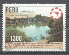 Peru / Perou 1989 Yvert 906, 3rd Meeting Of The Presidents, Laguna Huacachina - MNH - Peru
