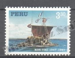 Peru / Perou 1997 Yvert 1098, 150th Ann. Kon Tiki Expedition, Boat - MNH - Peru