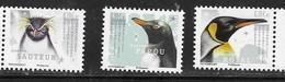 TAAF , 2019, MNH, PENGUINS, 3v - Penguins