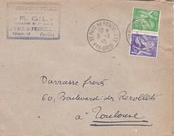 LETTRE---66---SAINT-PAUL-DE-FENOUILLET--1945--pharmacien De 1ère ClasseR. GIL-Pharmacie Centrale---voir 2 Scans - Marcophilie (Lettres)